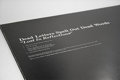 Lost In Reflections on Behance #white #packaging #black #vinyl #typography