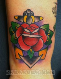 anchorrose #anchor #tattoo #rose