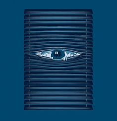 All sizes | Private Eye | Flickr - Photo Sharing! #blinds #frankplastic #noir #eye #illustration #film