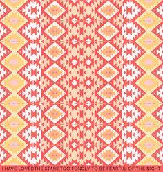 Pastel SouthwestArt Print #southwestern #pattern