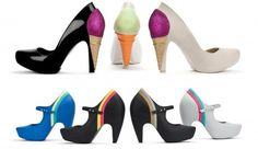 Artstic ice cream design shoes