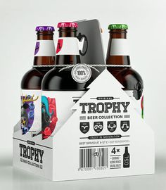 Trophy Beer Carrier #beer #bottle #label #packaging