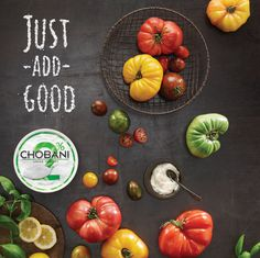 // Chobani 'Just Add Good' #food #typography