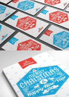 Typography Christmas Card 2013 #christmas #card #design