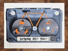 Design Work Life » Etsy Finds: Man vs. Ink #tape #illustration #drawn #bike #hand