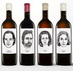 1_gutoggau-wine-portraits2.jpg (600×583) #product #faces #wine