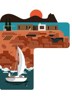 Monocle Summer | Hey #hey #vector #illustration #studio #boat #monocle