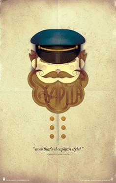 Colorcubic El Capitan Print on the Behance Network #colorcubic #herb #lubalin #print #el #illustration #capitan