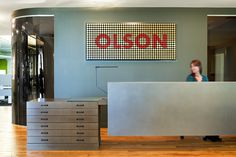 Olson Minneapolis Gensler office interior design typography big design inspiration mindsparkle mag designblog