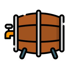 See more icon inspiration related to barrel, beer, food and restaurant, alcoholic drinks, cask, pub, alcoholic drink, alcohol, bar and food on Flaticon.