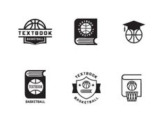Dribbble - Textbook Bball by Dustin Wallace #logo #textbook #basketball #typography