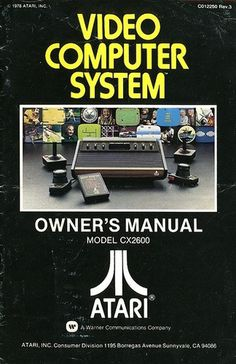 Atari - The Atari Video Computer System Owner's Manual | Flickr - Photo Sharing! #video #booklet #games #manual