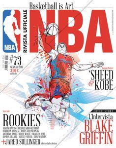 Rivista NBA   Covers 2012 13 by Francesco Poroli #cover #sport #nba #editorial #typography