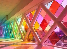 Harmonic Convergence by Christopher Janney, Miami International Airport | AnOther | Loves #international #glass #janney #airport #window #colour #christopher #miami