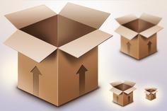 Cardboard box psd & icon Free Psd. See more inspiration related to Icon, Box, Psd, Cardboard, Horizontal and Cardboard box on Freepik.