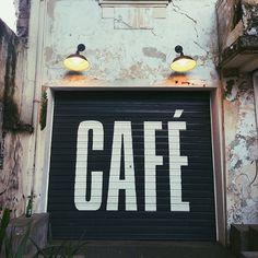 garage door letter love. #cafe #letters #typography