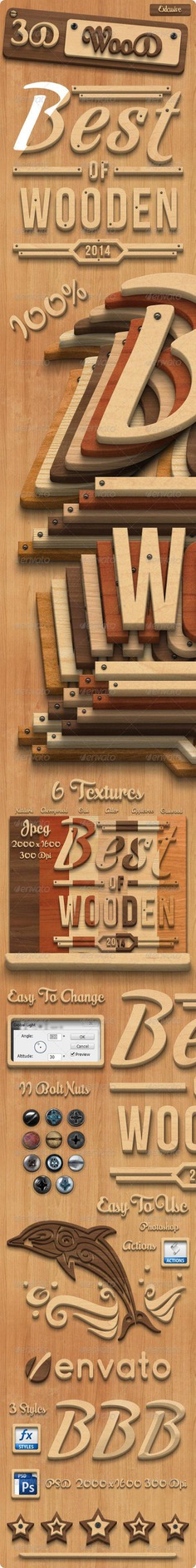 3d Wood Styles for Photoshop