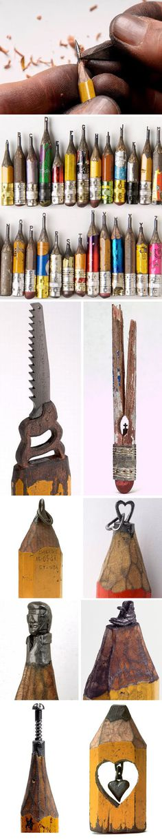 Pencil Carvings #wood #graphite #old #carve #pencils #intricate #carved #patina