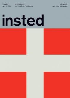 insted at the cabaret, 1991 - swissted #print #design #graphic #poster