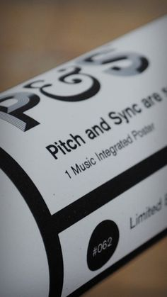 P&S #post #limited #edition #mckay #print #design #tube #label #sync #pitch #d&ad #music #stephen