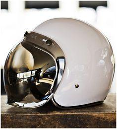 Mirror Shades. #helmet #white #space