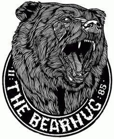 BEAR NO.2 - BEARHUG LOGO T - Luke Dixon Artist #logo #bear #hug