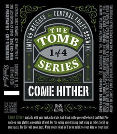 Central Coast Come Hither #packaging #beer