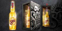 SOLÂ The Dieline #packaging #beer #overdone