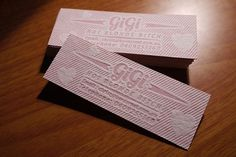 bubblegum letterpress business cards | Flickr - Photo Sharing! #card #bubblegum #letterpress #business