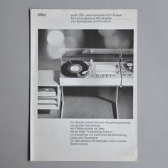 Braun audio 250 brochure 1967 via www.dasprogramm.org