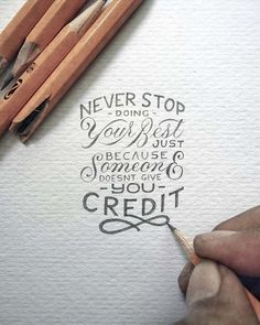 Never Stop doing