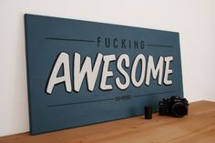 """Fucking awesome"" by Michael Risch #handcrafted #design #graphic #type #typography"