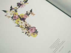 FAT MAGAZINE on the Behance Network #flowers #typography