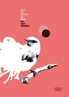 Heath Killen's Film Posters | Ape on the Moon: Contemporary Visual Arts #film #goddard #luc #poster #jean