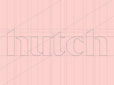 Hutch Interior Design App Logotype Wordmark Re-Design on Behance
