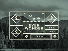 Everwonder labels #iconography #label #green #forest #web #branding #texture #logo #vector #gif #icons #grid