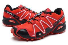 Adidas Salomon Mens Varsity Red Black Shoes #fashion