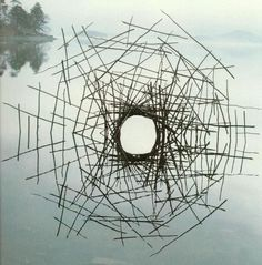 Andy Goldsworthy #water #reflection #ephemeral #nature #sticks