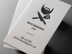 Dribbble - David A: Letterpress Business Card by Nicholas DeVore #identity #business card #letterpress