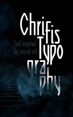 """font """"Chrifis"""""""