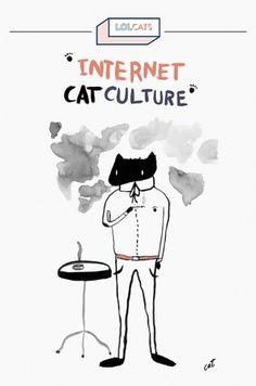 cat #illustration #ink #cat #typography