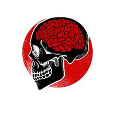 Red brain #skull #brain #art #illustration