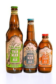 Carnival Ale - A student project by the looks of things, so less than perfect (especially in the typeface department) but a lovely idea. Aga #packaging #beer #branding
