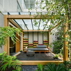 Jardin Apartment Provides a Close Connection of Living Spaces with Patios and Interior Gardens 10