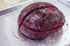 How To Make A Red Velvet Brain Cake For Halloween #Halloween #Halloween_idea #cake_decor #cake for halloween