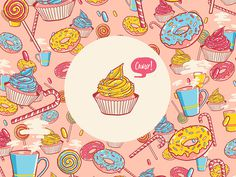 #candy #illustration #colors #pink #blue #yellow
