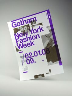 Viewing Gotham - New York Fashion Week - 02-01-08 in the Print category :: Ember #graphic design #typography #poster