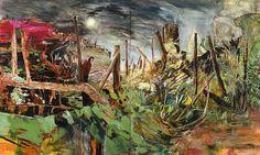 Hernan Bas Artists Lehmann Maupin #acrylic #diptych #landscape #painting #oil