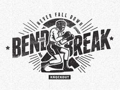 trendgraphy:Bend And Break by iqbalhakimboo #logo #illustrative