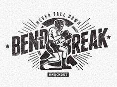 trendgraphy:Bend And Break by iqbalhakimboo #logo #illustrative